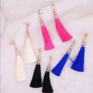 Jewelry - Rhinestone Tassel Earrings